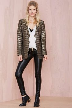 Luxe Life Blazer | Shop The Party Shop at Nasty Gal