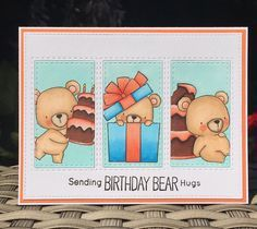 I made another card using the Beary Special Birthday stamp set from @mftstamps…