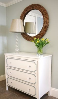 IKEa Chest in Mud room - Simply Modern Home