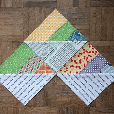 Year of Scrappy Triangles, quilt block 12, foundation paper pieced