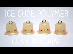 Kawaii Melting Ice Cubes polymer clay charm tutorial