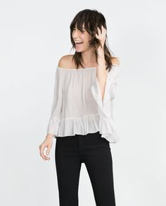 Image 3 of OFF-THE-SHOULDER BLOUSE from Zara