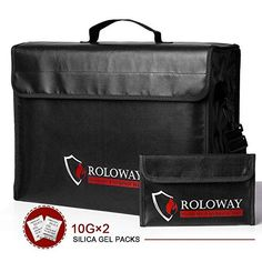 ROLOWAY Large inch Fireproof Bag with Bonus Bag for sale online Fireproof Document Safe, Secret House, 12 X 5, Pet Store, Bag Sale, Bag Making, Things To Sell, Film, Storage