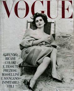 Isabella Rossellini by Steven Meisel Vogue Italia September 1989