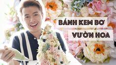 #02 Bánh Kem Bơ Hoa Lung Linh // Romantic Buttercream Flower Cake - YouTube Buttercream Flowers Tutorial, Flower Tutorial, Floral Tie, Youtube, Video, Sweets, Decor, Decoration, Gummi Candy