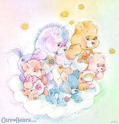 Care Bears + Cousins: Noble Heart Horse, True Heart Bear, Lotsa Heart Elephant, Swift Heart Rabbit + Cheer Bear