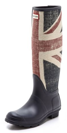 Shop for Boots Original Brit Boots by Hunter at ShopStyle. Hunter Wellies, Hunter Boots, Union Jack Clothing, New England Fashion, Walking Tall, Shoe Boots, Shoe Bag, Hunter Original, Jeans And Boots