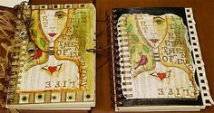 Free downloads of Kathy Kromer Art - great for journal cover