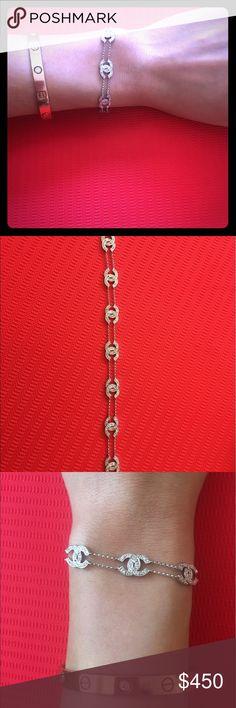 Beautiful 18k gold and diamond bracelet Beautiful Chanel design inspired real 18k gold and diamond bracelet. Custom made CHANEL Jewelry Bracelets