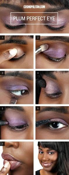 Smoky eyes don't always have to fade from black to gray. Here's a fresh, pretty plum take on a multi-tonal, smoky eye that's perfectly suited for fall.