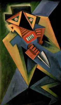 Josef Čapek - Fantomas, 1918 -  Czech artist who was best known as a painter, but who was also noted as a writer and a poet. He invented the word robot which was introduced into literature by his brother, Karel Čapek. He wrote Poems from a Concentration Camp in the Bergen-Belsen concentration camp, where he died in 1945.