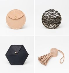 Leather Bags - geometric fashion; innovative accessories // Georgie Cummings