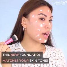 【Natural-looking Radiance】It was designed for daily use, lightweight and quickly absorbs onto the skin without any dryness or caking, coverage to even skin tone, hide blemishes, won't clog pores & keeps you shine-free all day Beauty Make Up, Beauty Care, Beauty Skin, Beauty Hacks, Hair Beauty, Beauty Tips, Makeup Goals, Makeup Tips, Imagen Natural