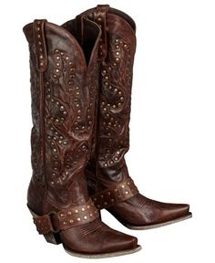 Lane Boots Studded Rocker Harness Cowgirl Boots - Sheplers
