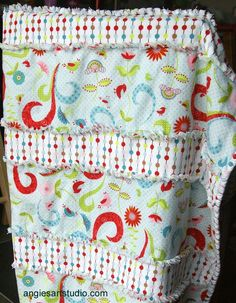 An Easy and Simple Way to Make a Baby Rag Blanket | Angie's Art Studio