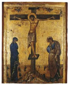 Crucifixion icon - Byzantine and Christian Museum, Athens, Constantinople, half cent Crucifixion Of Jesus, Jesus Christ, Russian Icons, Jesus Art, Byzantine Icons, Orthodox Christianity, Icon Collection, Art Icon, Religious Icons