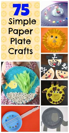75 easy paper plate crafts for kids - complete with pictures. Should you ever need kids crafts with paper plates this post is for you! - We made tons of paper plate crafts as kids. We can't wait until we can do some of these with our kiddos :) Craft Activities For Kids, Toddler Activities, Preschool Activities, Projects For Kids, Craft Ideas, Art Projects, Preschool Teachers, Fun Ideas, Ideas Para