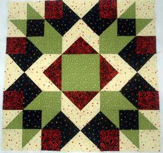 """Use These Quilt Block Patterns to Make a Big Block Quilt: 24"""" Arrow Crown Quilt Block"""