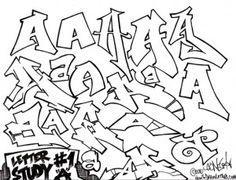 Graffiti Style Letter Study A