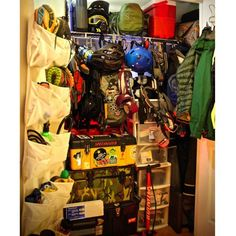 Some people throw their gear in a corner of the garage. Others have dedicated gear rooms that are so stacked and organized they look like retail shops. We asked our Instagram followers to submit photos of their tricked-out storage spaces. Here are our 12 favorites.
