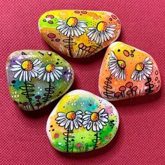 Rock Painting Patterns, Rock Painting Ideas Easy, Dot Art Painting, Rock Painting Designs, Pebble Painting, Pebble Art, Stone Painting, Painted Rocks Craft, Hand Painted Rocks