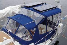 Gemini Marine Canvas - Full Cockpit Enclosure with Solar Panels - Marine Fabricators Association
