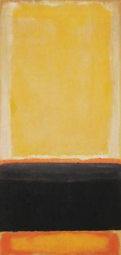 dailyrothko:  Mark Rothko, Untitled (Yellow, charcoal and brown)