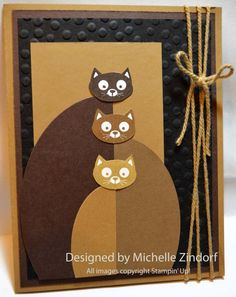 Soft Kitty Warm Kitty Stampin' Up! Card created by Michelle Zindorf using the You Little Furball stamp set.