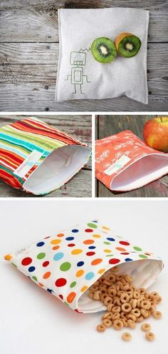 I use these DIY reusable sandwich bags for back to school lunches every day. Not only are they cute but eco friendly. Great to have around to keep toddler travel snacks in too!