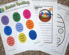 Many free language arts worksheets for Easter are available online.