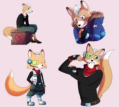 Fox McCloud doodles. Fox Mccloud, Fox Games, Fox Series, Star Fox, Fox Art, Wolf Tattoos, Cute Fox, Art Memes, Super Smash Bros