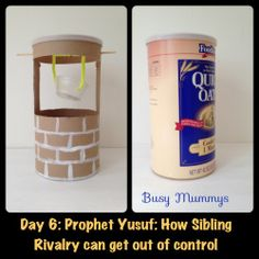 Prophet Yusuf Activity: Make a Well. A Sibling well. Get kids to drink from this well (by placing a cup of water) to reconcile after the usual 'sibling strife'