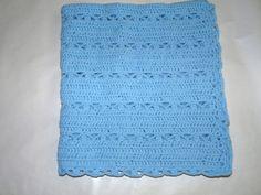 Baby boy blue blanket by QUINNYSCROCHET on Etsy, $45.00
