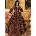 Brown Baroque Renaissance Gown - MCI-183 by Medieval Collectibles