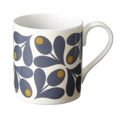 Orla Kiely | USA | House | Kitchen | Acorn Cup Mug (0MUGACP700) | Olive