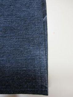 ausgefranste Jeans reparieren