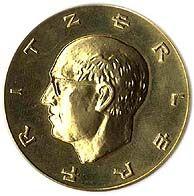 1976, Federal Republic of Germany, Fritz-Erler / school Pforzheim 3 medals, 36 Gr. 900er gold, 25 Gr. Silver 26 Gr. Bronze, ss vz