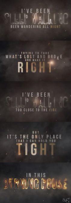Cam- burning house