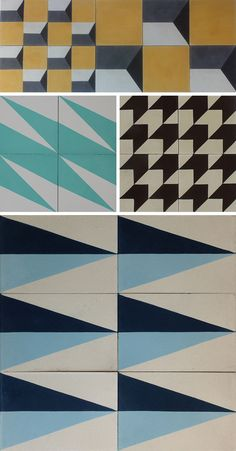 Cement tiles from Popham Design. | Door Sixteen