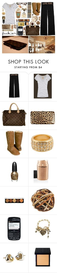 """November 20th."" by s-a-m-a-n-t-h-a-x ❤ liked on Polyvore featuring Victoria's Secret, Hollister Co., Louis Vuitton, Forever 21, UGG Australia, Burberry, Sephora Collection, MAC Cosmetics, MAKE UP FOR EVER and Betsey Johnson"
