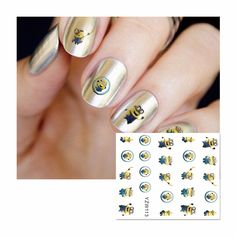 FWC Full Cover Cartoon Animals Nail Stickers Water Transfer Stickers For Manicure Salon 113 #Affiliate