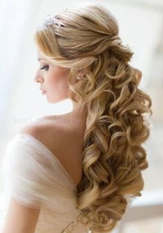 half up half down wedding hairstyle - Google Search