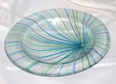 Fused Glass Bowl.  Could use this as accent piece for floating candles in massage room ir even in reception area...