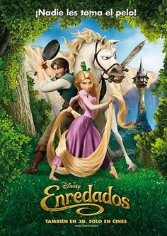 Tangled in Spanish. disney movies in spanish are the best!