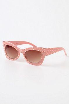 Pink polka dot sunglasses