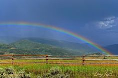 The pot of gold at the end of this rainbow can be found in Steamboat Springs, Colorado.