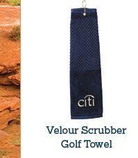 Velour Scrubber Golf Towel