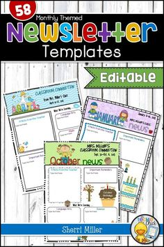 These editable newsletter templates are easy to use for your elementary classroom. You'll love all the options in the 58 weekly or monthly seasonal themed templates.