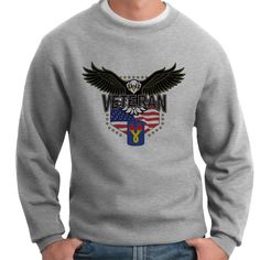Show your 196th Light Infantry Brigade pride and stay warm with this great-looking and ultra-comfortable crewneck sweatshirt available exclusively from VetFriends. This classic fit 10oz 100% Spun Polyester Fleece sweatshirt features banded sleeves and bottom hem. Designed, Printed & Sublimated in the USA -Fabric imported.