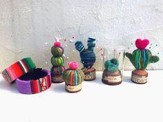 ダイソー毛糸と羊毛で♪かわいい&便利なサボテンピンクッション!